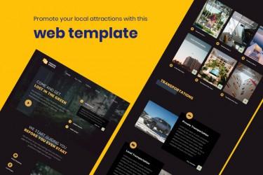 旅游宣传网站的页面设计模板