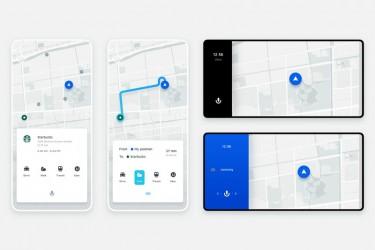 极简的地图导航APP UI界面设计模板