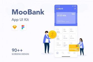 财务金融区块链APP UI Kit设计素材