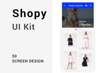极简设计电商app ui kit模板