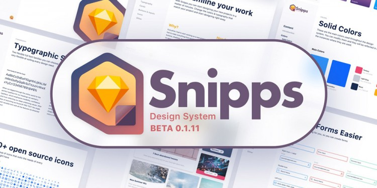 完整的网站设计系统规范模板素材—Snipps