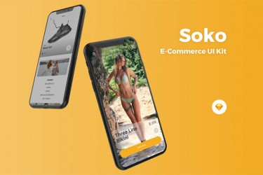 高品质Sketch电商app ui界面设计模板