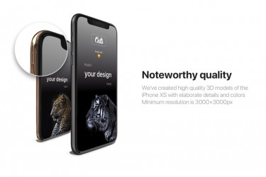 超逼真的iPhone Xs样机