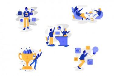 5个商务主题插画设计素材