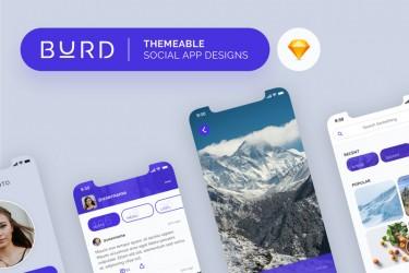 简单易用的社交app界面设计模板
