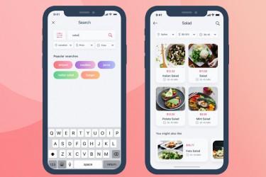 生鲜配送app界面设计模板