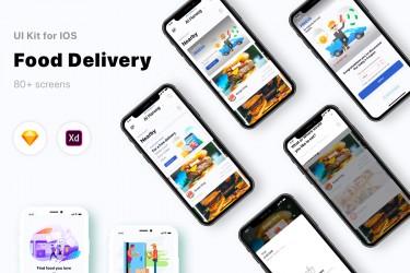 食物配送app ui界面设计模板