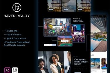 房产中介网站界面设计模板