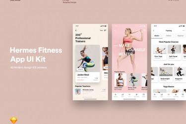 精美的运动健美app ui界面设计模板