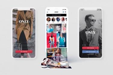 时尚类产品的电商app界面设计模板