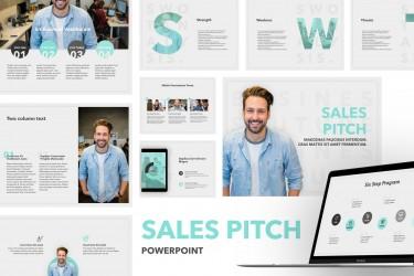 销售用途的PowerPoint幻灯片模板素材