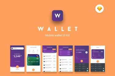 android全面屏的钱包app ui设计模板