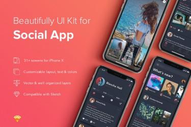 美丽的社交app界面设计模板
