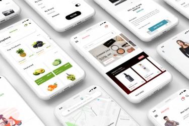 极简设计电商app及网站界面设计模板