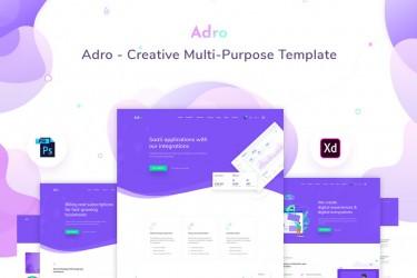 创意的多用途网页设计模板