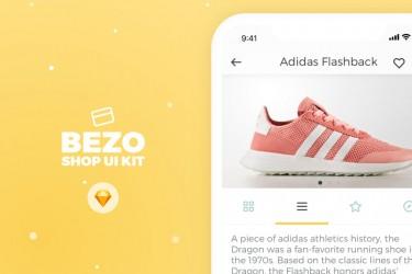 时尚的在线购物app ui kit模板