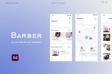 理发师预约App界面设计模板