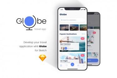 环球旅行app界面设计模板