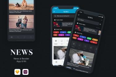 新闻阅读器app界面设计模板