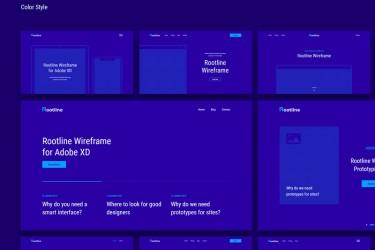 Adobe xd格式网站线框图素材