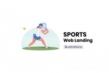 用于体育类网站的插画素材