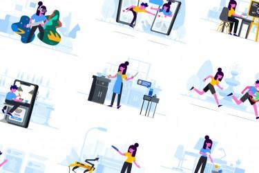 创意故事有关的插画素材