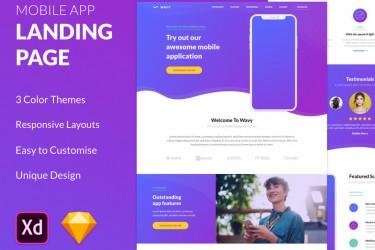 用于app产品展示的网站设计模板