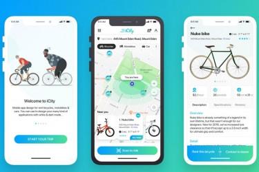 租自行车的app界面设计模板