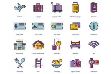 96个旅行图标素材