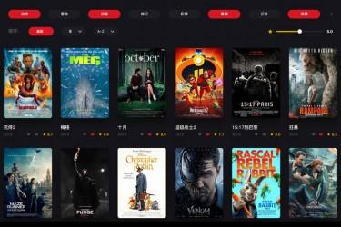 炫酷中文电影网站页面设计模板
