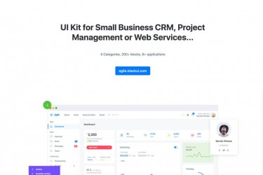 响应式Bootstrap网页前端UI kit模板