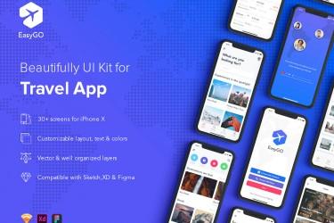 类似面包旅行app的界面设计模板