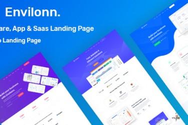 软件和app的着陆页设计模板