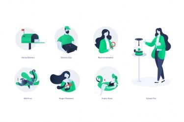 7个网站或app常用的插画素材