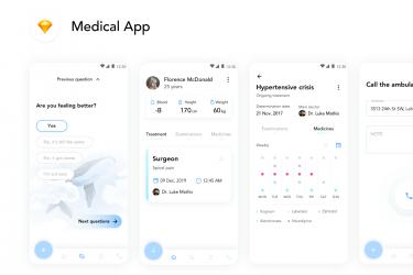 简洁实用的医疗app界面设计模板