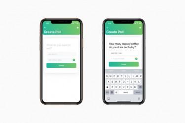在线投票app界面设计模板