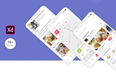 时尚餐厅外卖app界面设计模板