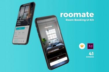 高品质的房间预订App UI设计模板