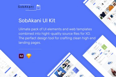 Adobe xd格式电商网站网页设计模板