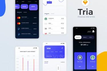 银行财务app界面设计模板