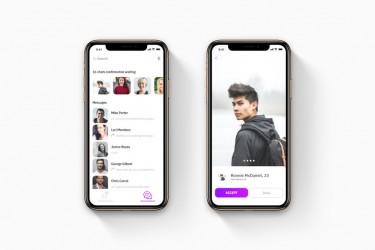 Adobe XD格式的社交app ui kit 素材