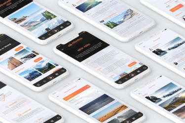 旅行和航班预订类app UI设计模板