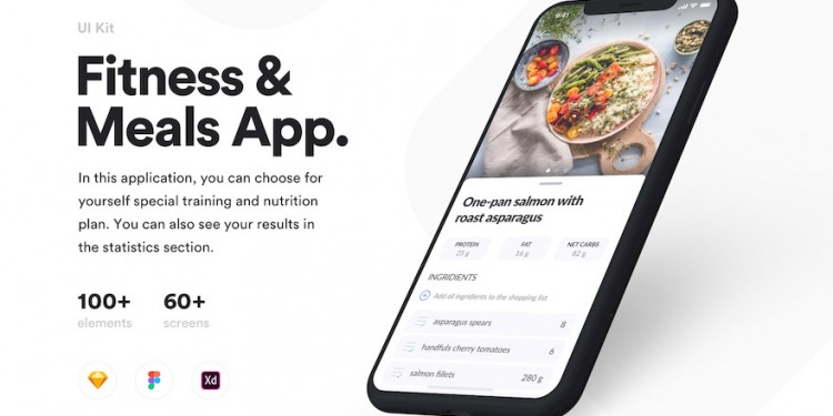 专为健身爱好者设计的app ui kit