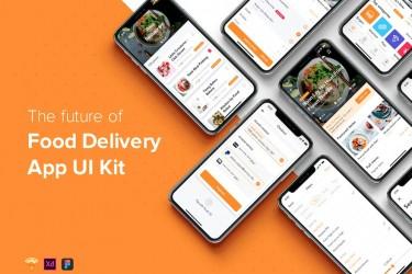 美食外卖app界面设计模板