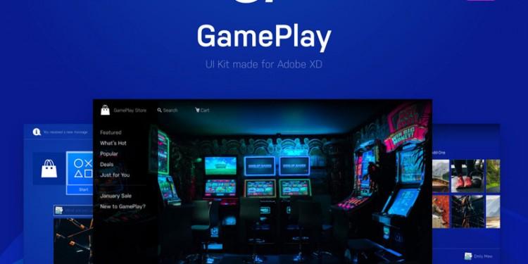 游戏平台的界面设计模板
