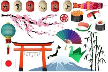 日式和风主题ai插画素材
