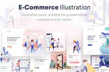 10个电子商务流程ai矢量插画素材