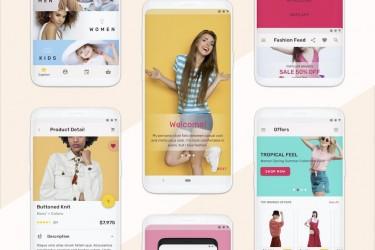 安卓时尚购物类app ui设计模板