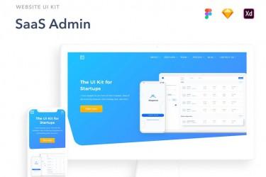 SaaS网站UI设计工具包