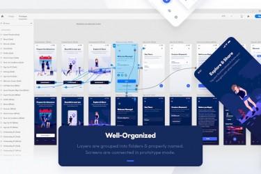旅行社交类app UI设计模板